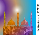 beautiful religious eid... | Shutterstock .eps vector #411977992