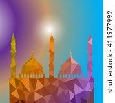 beautiful religious eid... | Shutterstock .eps vector #411977992