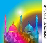 beautiful religious eid... | Shutterstock .eps vector #411978235
