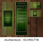 vector illustration of a menu... | Shutterstock .eps vector #411981778