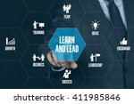 learn lead technology... | Shutterstock . vector #411985846