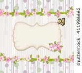 floral background with dots  .... | Shutterstock .eps vector #411986662
