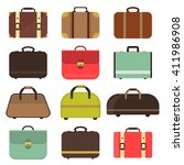 bag types isolated travel case... | Shutterstock .eps vector #411986908