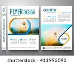 flyers design template vector.... | Shutterstock .eps vector #411992092