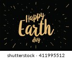 happy earth day inscription.... | Shutterstock .eps vector #411995512