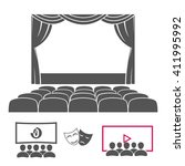 theater stage and cinema icons | Shutterstock .eps vector #411995992