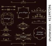 set of vintage elements. vector ... | Shutterstock .eps vector #411997396