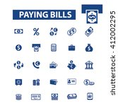paying bills icons  | Shutterstock .eps vector #412002295