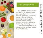 food prevention of oncological... | Shutterstock .eps vector #412007872