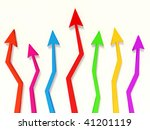 colored arrow go up on white | Shutterstock . vector #41201119