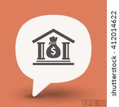 pictograph of bank | Shutterstock .eps vector #412014622