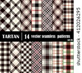 set tartan seamless pattern.... | Shutterstock .eps vector #412026295