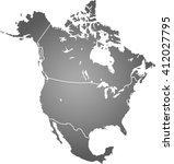 map of north america | Shutterstock .eps vector #412027795