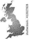 map of united kingdom | Shutterstock .eps vector #412027828