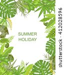 tropical green vertical poster | Shutterstock .eps vector #412028596