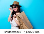 portrait of the beautiful young ...   Shutterstock . vector #412029406
