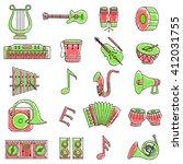vector illustration of set of... | Shutterstock .eps vector #412031755