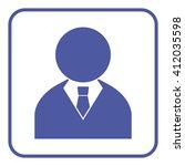 businessman icon | Shutterstock .eps vector #412035598