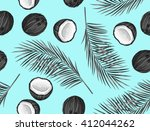 seamless pattern with coconuts. ... | Shutterstock .eps vector #412044262
