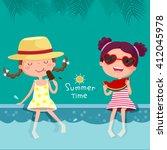 vector illustration of two... | Shutterstock .eps vector #412045978