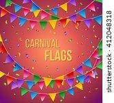 full frame carnival flags card... | Shutterstock .eps vector #412048318