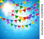 full frame celebration card... | Shutterstock .eps vector #412048456