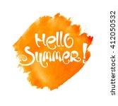 Abstract Hello Summer Letterin...