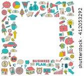 vector set of doodle business...   Shutterstock .eps vector #412053292