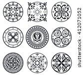 illustration of moroccan tiles... | Shutterstock . vector #412071052