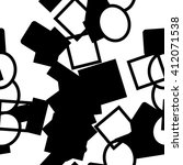 abstract black and white... | Shutterstock .eps vector #412071538