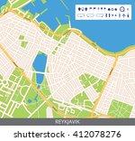 vector color map of reykjavik ... | Shutterstock .eps vector #412078276