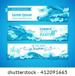 vector set of sea ocean... | Shutterstock .eps vector #412091665
