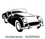 old vintage car | Shutterstock .eps vector #41209444