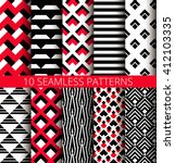 geometric red black and white... | Shutterstock .eps vector #412103335