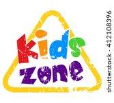 kids zone vector banner grunge... | Shutterstock .eps vector #412108396