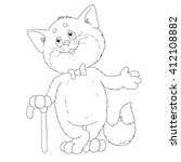 cute cat for coloring book | Shutterstock .eps vector #412108882