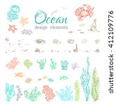 Vector Set Of Underwater Sea...