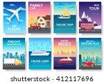 variations transport of travel... | Shutterstock .eps vector #412117696