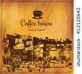 restaurant menu design. vector...   Shutterstock .eps vector #412120642