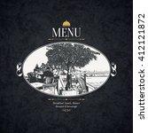 restaurant menu design. vector...   Shutterstock .eps vector #412121872
