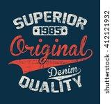 superior quality denim vector...   Shutterstock .eps vector #412121932