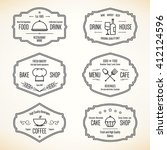 label and logo set for... | Shutterstock .eps vector #412124596