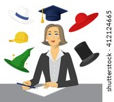 six color hats. a modern system ...   Shutterstock .eps vector #412124665