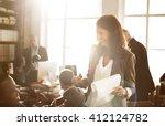 business corporation... | Shutterstock . vector #412124782
