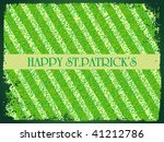 st. patrick's day grunge lines... | Shutterstock .eps vector #41212786