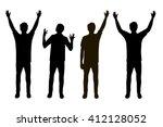 vector illustration of four men ... | Shutterstock .eps vector #412128052
