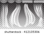 different shapes curtains on... | Shutterstock .eps vector #412135306