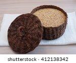 Oatmeal In A Large Wicker Box...