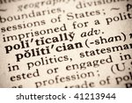 faded definition of a politician - stock photo