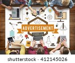 advertisement advertising... | Shutterstock . vector #412145026